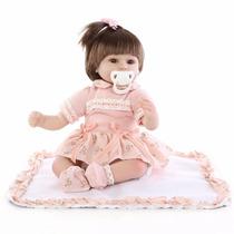Boneca Bebê Reborn Clarinha Silicone Pronta Entrega