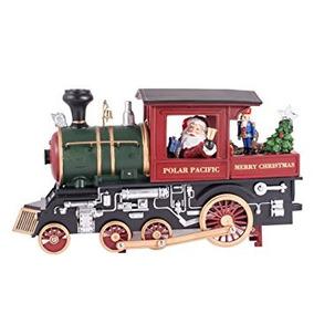 Decoración Santa Claus En Un Tren Ligero Musical Hasta Navi