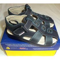 Sandalias Junior Color Azul Talla 27 Para Niños. Nuevas