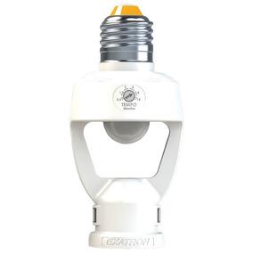 Sensor De Presença E Fotocélula E27 P/ Lâmpada De Até 48w