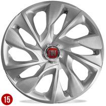 Jogo De Calota Aro 15 Fiat Novo Palio 2013 2014 Punto Silver