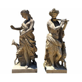 Esculturas Em Pedra Vulcânica Italiana Esculpida A Mão