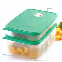 Tupperware Set Frezer Time X 550ml Y 1.5 Lt Verde