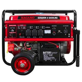 Gerador Á Gasolina 8,125 Kva Mono Part. Elétrica - Nagano