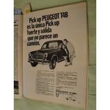 Publicidad Peugeot 404 Pick Up T4b Año 1969