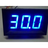 Voltímetro Automotivo Azul 12/24volts - Até 30 Volts