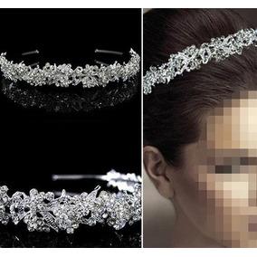 Tiara Diadema Cristal Austriaco Boda Reina Fiesta Compromiso