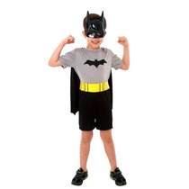 Fantasia Batman Pop Curto Infantil Liga Da Justiça Tam P