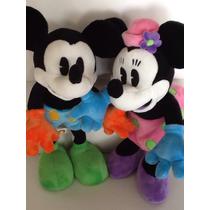 Pelúcias Minnie & Mickey Vintage Original Disney Parks 36cm