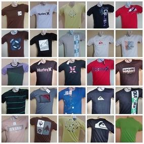 Kit 100 Camisetas Original Quiksilver Hurley Bilabong Oakley