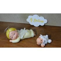 Angelito,pastorcito,ovejas-porcelana Fria, Bautismo-cumple