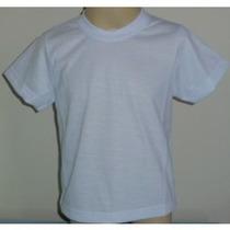 Lote 30 Camisetas Infantil Lisa 100% Poliéster Sublimação