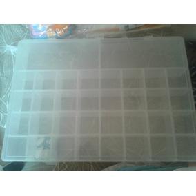 Caixa Organizadora Com 34 Divisórias Pra Jogo De Botão