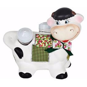 Vaca Cozinheira Patchwork Porta Paliteiro Saleiro #1344#