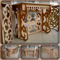 Kit Provençal Mesa+ 2 Cubos Com Tampos Margarida Aniversario