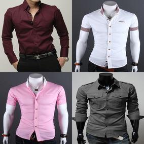 Camisa Social Masculina Casual Slim Fit Vários Novos Modelos