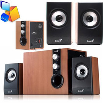 Combo De Sonido Genius 2.1 1205 32w Rms Subwoofer Pc/tv/tlf