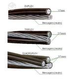 Fio Cabo Multiplexado Alumínio Triplex 10mm (2+1) 100metros