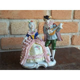 Casal De Porcelana Alemão - Peça Rara