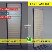 Fabrica De Exhibidores, Panel Ranurado Islas Comerciales Mdf
