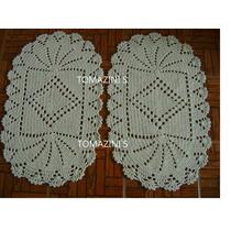 (promoção)par Tapete Oval Leque 45x70cm Barbante100%algodão