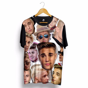 Camisa Justin Bieber Estampada Unissex Hip Hop Blusa Preta