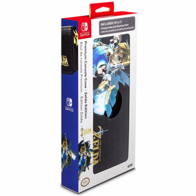 Case Nintendo Switch Zelda Breath Premium + Pano Limpeza