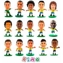 Coleção 15 Minicraques Seleção Brasileira 2014 Soccer Starz