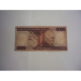 Cédula 5.000 Cinco Mil Cruzeiros - Brinde Nota Com Defeito