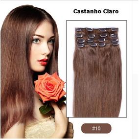 Aplique Mega Hair Tic Tac 100% Humano Castanho E Ruivo