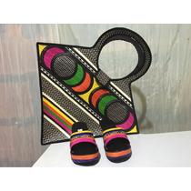 Carteras Bolso Dama Mujer Sandalias Zapatos Mujer Moda Arte