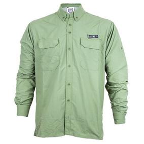 Camisa De Pesca King Seca Rápido Proteção Solar Uv 50+ Verde