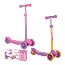 Patinete 3 Rodas Infantil Rosa E Lilas Menina 70kg Fênix