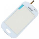 Tela Vidro Touch Samsung Galaxy Fame S6810 S6812 Branco