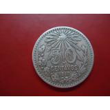 Escasa Moneda De 50c 1917, Ley 800,alta Condicion