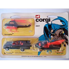 Corgi Junior X3: Batmobile + Batcopter + Batboat