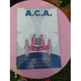 Réplica Antiguo Cartel Aca Automovil Club Arge (no Enlozado)