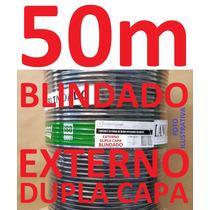 Cabo Rede Cat5e Preto 50m Ftp Externo Dc Blindado Condutti