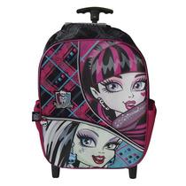 Mochila Fashion De Monster High Con Carrito Original