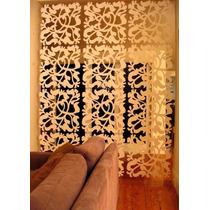 Painel Decorativo Em Mdf Elemento Vazado 20 X 15 Cm