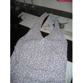 Solera Vestido Con Espalda Libre Algodon Años 60 Talle S
