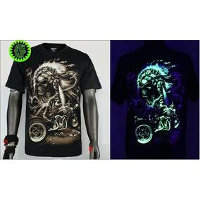 Camisetas De Led Que Brilham No Escuro- 3 Estampas Diferent