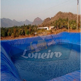 Lona Plástica Azul 20x15 Lago Tanque Grande Gigante 300micra