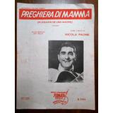Nicola Paone Partitura Preghiera Di Mamma 1953