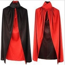 Capa Drácula-vampiro Dupla Face Halloween