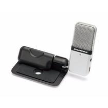 Microfone Condensador Portátil Usb Samson Go Mic C/ Clip + F