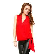 Anna Flynn - Blusa Roja Cruzada - Rojo - Nb3208024