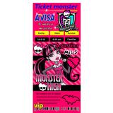 Invitación Infantil Monster High Digitalizadas