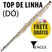 Flauta Transversal C (dó) Prateada Fl03s Com Case - Eagle