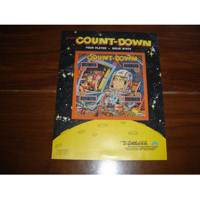 Pinball Fliperama Gottlieb Count-down - Flyer - Mpbola